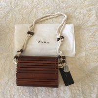 ZARA wooden bag (new with tags)