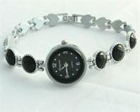 Black Stone Women Watch