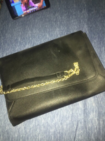 BCBG black crossbody with gold chain