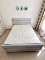 Used Queen size bed (mattress included) in Dubai, UAE