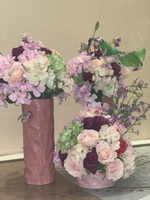 Used Pink Vase With Artificial Flower in Dubai, UAE