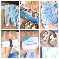 Used Baby item wipes,rompers,wrap,booties,bar in Dubai, UAE