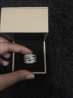 Artificial 18 k white gold plated ring