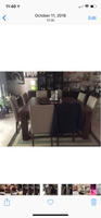 Used Dining set- square table w/ 8 chairs  in Dubai, UAE