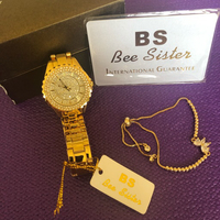 Used Bee Sister Quartz Watch/Gold Plated  in Dubai, UAE