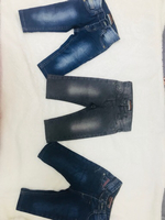 Used Baby boy jeans combo blue navy grey 6-12 in Dubai, UAE