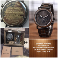 Used BOBO BIRD WOODEN WATCH WITH ENGRAVED in Dubai, UAE
