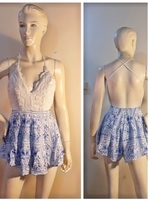 Used Blue and white sexy jumpshort-small size in Dubai, UAE