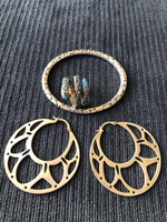 Used Earrings & snake ring & bangle  in Dubai, UAE