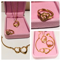 Used Fashion jewelry hearts of 2 sets in Dubai, UAE