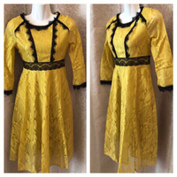 Used Ladies yellow/gold dress M in Dubai, UAE
