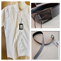 Used Men's shirt 39/40 & Lacoste belt 85/36 in Dubai, UAE