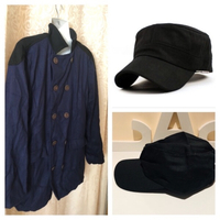 Used Autumn coat size XXL plus black cap  in Dubai, UAE