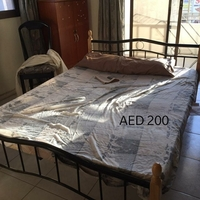 Used Metal Bed 200AED (direct msg) in Dubai, UAE