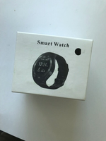 Black smart watch new for Android