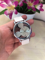 Used Ladies Leather Mickey Mouse Watch White  in Dubai, UAE