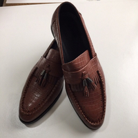 Mens shoes brown (42) leather moccasins