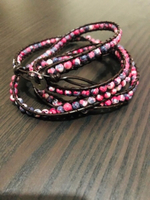 Used Long Beaded Pink Bracelet  in Dubai, UAE