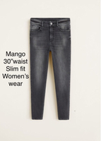 """Mango jeans waist 30"""" before 289dhs"""