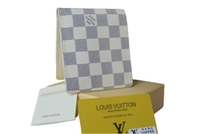 Used LV white bifold wallet for men ID in Dubai, UAE