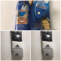 Used Whitening teeth system/6 adidas socks  in Dubai, UAE