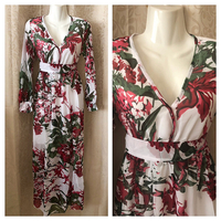 White FLOWER dress XL