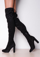 Used High Heeled Suede/ Velvet Boots/35 in Dubai, UAE