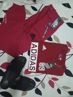Used Tshirt red & trouse , slipper SET in Dubai, UAE