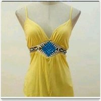 Used Yellow summer top for lady. in Dubai, UAE