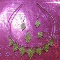 Used Set : Ring Earing necklace crown For Kids  in Dubai, UAE