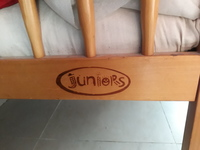 Juniors baby cot along with mattress