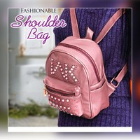 Fashionable cute small pink back pack