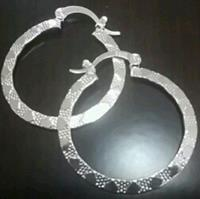 Used Silver Plated Hoop Earrings  in Dubai, UAE