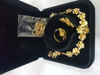 Gold jewelry  flowers 3pcs sets 345