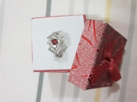 Silver Ring #with Ruby Stone#Size8#New