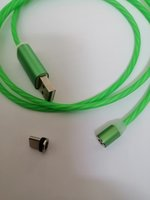 Used LED magnetic flow data cable Type-C in Dubai, UAE