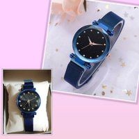 Used New beutiful blue magnetic strap watch in Dubai, UAE