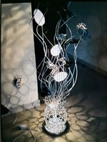 Used Beautiful Flower lamp black and silver in Dubai, UAE