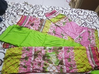 Pakistani Unstitch 3pcs set green&pink