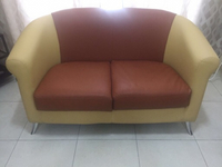 Used Sofa leather 2 seater -  very good  in Dubai, UAE