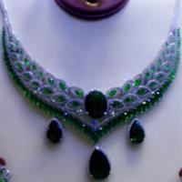 Silver Necklace 925 Italian Brand New With Bankle Ring And Earing Micro Setting American Diamond Stone.......Hurry!!!!!