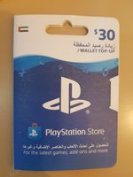 Used PlayStation store wallet top up 30$ in Dubai, UAE
