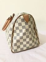 Used LV speedy 30 azur preloved in Dubai, UAE