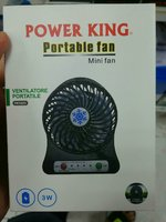 Powerking Emergency Mini Fan LED Recharg