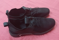Used Men's mesh casual shoes, black, 42 in Dubai, UAE