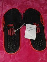 Used Men's Slipper size 42 Color BLACK & RED in Dubai, UAE