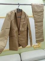 Used NEW MEN'S SUIT SKY BROWN!!! SUPER OFFER! in Dubai, UAE
