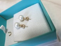 Used 18k Yellow Gold Pearl Earring in Dubai, UAE