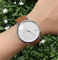 Used Original TOMI Leather Watch~ New withBOX in Dubai, UAE