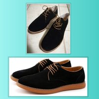 Used Brand new black suede skin shoes size 42 in Dubai, UAE